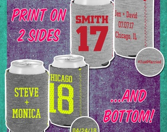 Custom Jersey Knit Can Cooler for Wedding Favors