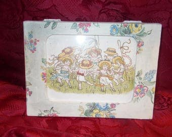 shabby chic cath kidston keepsake box , picture frame lid