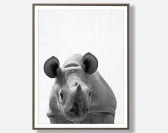 Printable Rhino, African Artwork, Rhino Wall Art, Rhino Poster Print, Baby Rhino, Printable safari, Nursery Printable, Printable Artwork