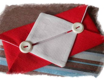 Red and white Pocket tissue case