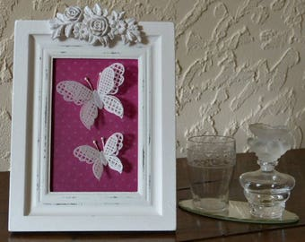 "Painting ""butterfly light"", paper or ""pergamano"" lace"