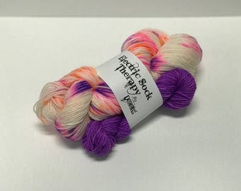 Electric Sock Therapy - It's My Party - Hand Dyed Yarn - SW Merino Wool/Nylon (80/20) Fingering/Sock Weight