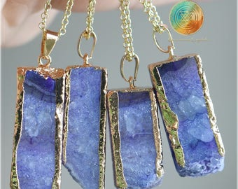 SALE!Agate Druzy necklace, Natural Purple Agate necklace, Druzy pendant,Crystal necklace,Genuine Agate,Purple Agate, Druzy Geode Jewelry