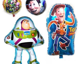 4pcs Buzz Lightyear Woody Captain balloon toy story balloon Globos happy birthday party decorations kids classic toys baloes