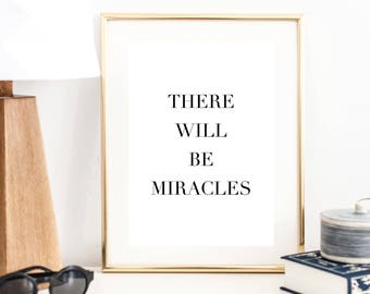 There May be Miracles Print | Typography Poster | Minimal Art Print | Modern Art Print | Wall Decor | Office Decor | Christian Art Print