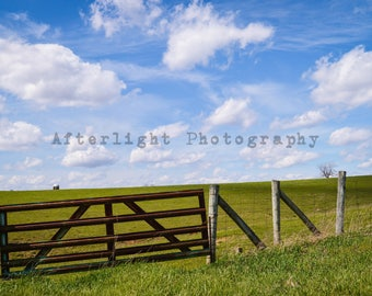 Vibrant Countryside Photograph, Country Print, Landscape Photograph, Home Decor,Fine Art Photography,