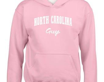 NC Guy North Carolina Flag Charlotte Map 49ers Home of University of NC UNC Girls Boys Youth Kids Hoodie