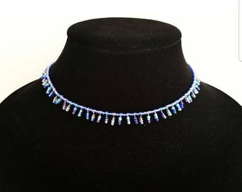 Beaded necklace, tribal necklace