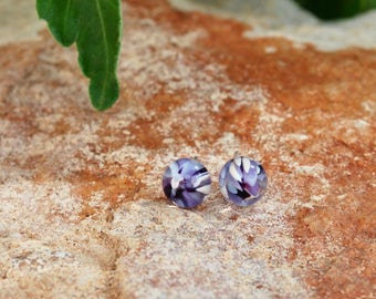Mediterranean Glass Stud Earrings