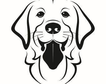 Labrador Retriever #1 Dog Breed K-9 Animal Pet Hound Lab Puppy Logo .SVG .EPS .PNG Digital Clipart Vector Cricut Cut Cutting Download File