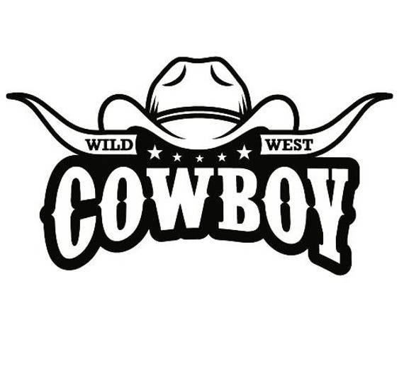 Cowboy Logo 9 Bull Horn Wrangler Horse Country Western Rodeo