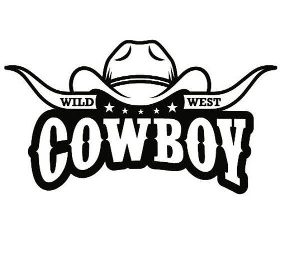 cowboy logo 9 bull horn wrangler horse country western rodeo
