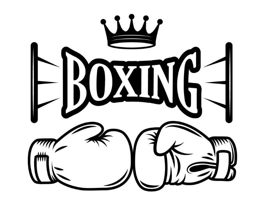 boxing gloves coloring pages - boxing logo 7 fight fighting mma mixed martial arts boxer
