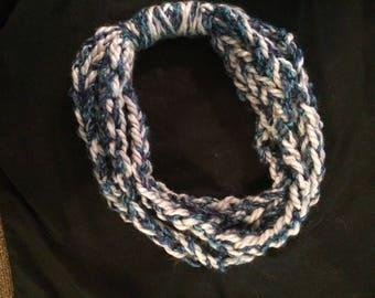 braided scarf/ necklace scarf/ crochet scarf