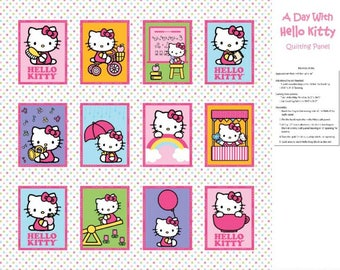 Hello Kitty Quilt Panel CP45996