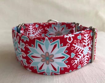 Icy Flakes Martingale Dog Collar