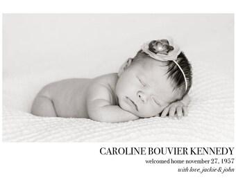 "Adoption Announcement // Postcard or Card // Horizontal Vertical // 4""x6"" 5""x7"" // PDF Download"