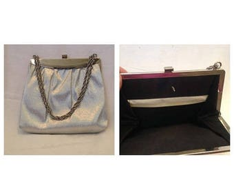 Anniversary Sale Vintage Silvertone Handbag