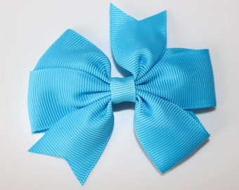 Turquoise bow for girl hair clip