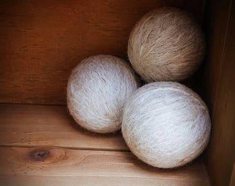 100% Felted Wool Dryer Balls - Set of 3