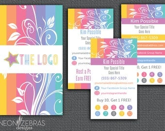 Floral Business Cards | Inspired by LuLaRoe Business Cards | Floral | Direct Sales