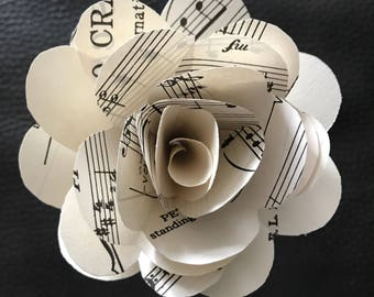 """Single Paper Rose on Stem, You Pick Color or Type, 3""""-4"""""""