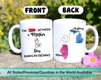 Long distance mug,Gift for Mom from son,coffee mug,Long distance Mom Son mug,Mother Mug,Long Distance Mom,Custom Mug,Mom Mug,Moving away son