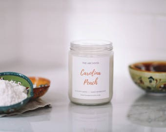 Carolina Peach Soy Candle Handmade Candle by The Archives Candles