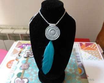 Feather rolled paper Bead Necklace