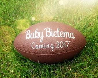Pregnancy Reveal   Pregnancy Announcement   Baby Football   Gender Reveal   Birth Announcement   Baby Photo Prop   Baby Announcement Husband