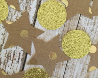 Star Confetti and Gold Circles - 40 CT.