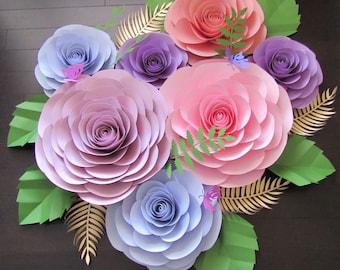 Large Paper Flower Backdrop/ Nursery Decor ***Color Customizable***