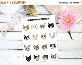 25% OFF Everything Cats - Mini - Planner Stickers