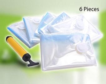 6X Jumbo Vacuum Seal Garment Bags Space Saver Saving Quilt Storage Bag (US ONLY)