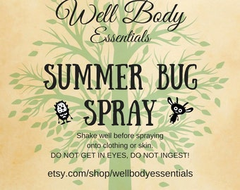 BUG SPRAY | INSECT repellant | Non-toxic mosquito spray | non-deet insect repellant