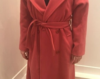Long Cacharel coat with belt 80s