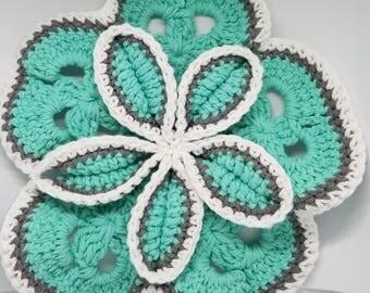 Crochet Starburst Hot Pads - Ready to ship