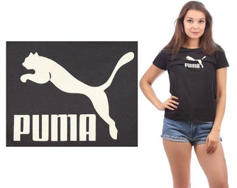 Classic PUMA T Shirt 90s Reversible Black White Puma Logo Active Wear Outside Activity Sports Shirt Men Women Unisex Top Small Medium