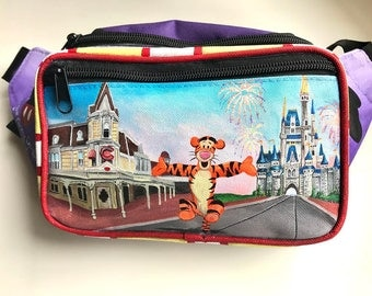 Disney Main Street USA Fanny Pack-Hand Painted