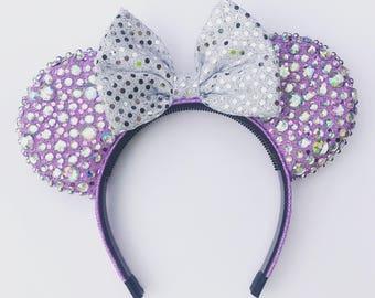Purple Wall Mouse Ears - Diamond Mouse Ears