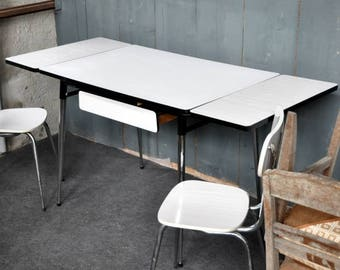 White Formica table