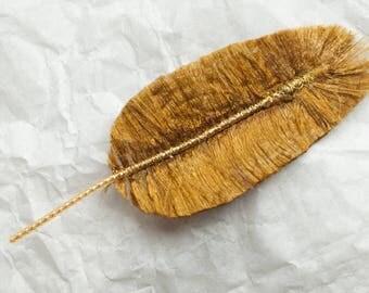 Reserved for Kzachoc. Duvet de phénix : plume textile pour bijoux, bijoux de sacs, accessoires, décoration...