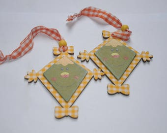 """set of 2 ornaments """"funny guys"""""""