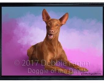 Pharaoh Dog Framed Canvas Print Wall Art