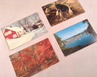 Vintage New England Travel Postcards