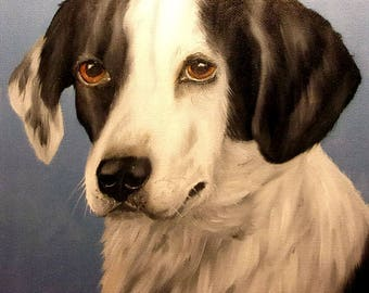 """Dog Portrait Oil Painting on 8x10"""" on Canvas Panel Board"""