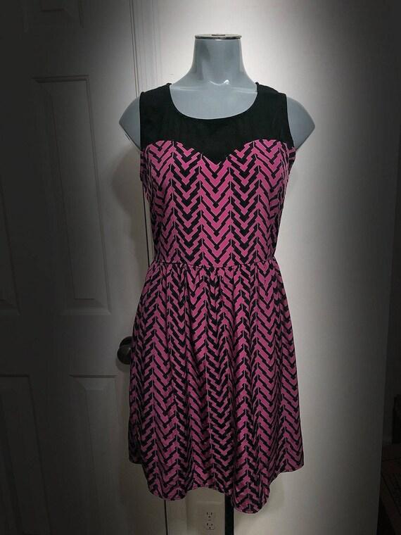 Vintage Retro Purple Dress