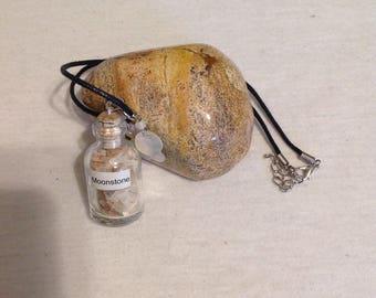 Gemstone bottle pendant