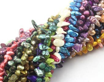 8x12mm baroque pearls necklace dyed color colorful pearls necklace wholesale