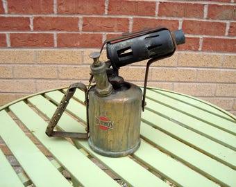 Vintage Brass Burmos Paraffin Blow Lamp/ Blow Torch Pattern A